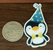 Penguin acrylic pin New Party Hat