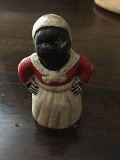 Vintage Black Americana nanny Figurine Cast Iron coin Bank statue antique