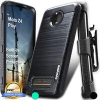 For Motorola Moto Z4 / Z4 Play 2019 Holster Case Belt Clip Phone Cover COVRWARE