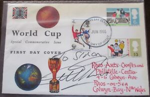 FDC (First Day Cover) 1966 World Cup Final team signed by Geoff Hurst, 1 Jun 66