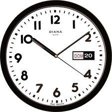 HORLOGE MURALE DUVE 103639-N PLASTIQUE TOUR 32 CM JOUR DATE QUARTZ NOIR