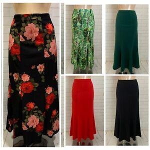 Maxi Length Fishtail Mermaid Fit Flare Godet Style Causal Smart Skirt 10 - 22