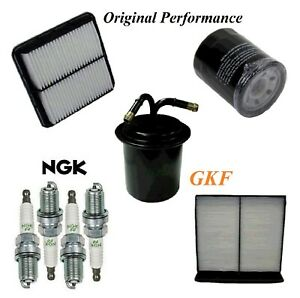 Tune Up Kit Air Cabin Oil Fuel Filters Plugs For SUBARU XV CROSSTREK 2.0L 13-15
