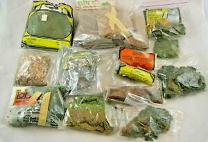Lot of Open Bags of HO Scale Scenery: Earth, Coal, Foliage, Grass, Underbrush