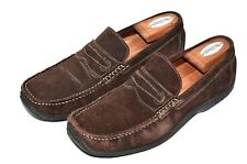 DONALD J PLINER Endi Sz 8.5 M Brown Suede Casual Sport Driving Loafers