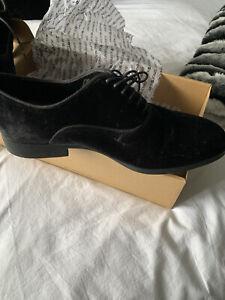 Black Velvet Mens Zara Shoes