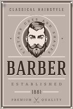 Barber Shop Sign Metal Sign, Barber Shop Signage, Modern Style, Barbers Sign 995