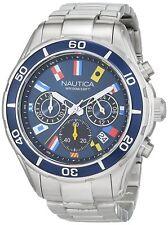 Nautica Men's 'NST 12 FLAGS' Quartz Chronograph Stainless Steel Watch NAD19549G
