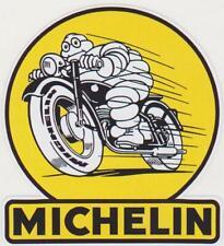 Autocollant Stickers - MICHELIN BIBENDUM MOTO VINTAGE COURSE 10X11 CM
