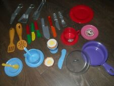 CHILDRENS PLAY KITCHEN COOKING ITEMS + OPENING EGG BREAKFAST SET