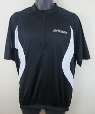 Airtracks Black Cycling Retro Jersey Top Shirt Vintage Maillot Maglia L Large