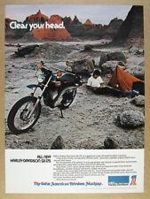 1974 Harley-Davidson SX-175 SX175 motorcycle photo vintage print Ad