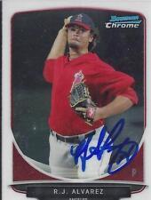 R.J. Alvarez Los Angeles Angels 2013 Bowman Chrome Signed Card
