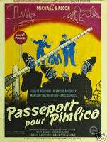 Passport to Pimlico Basil Radford vintage movie poster