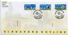 SINGAPORE, 1987 SINGAPORE SKYLINE, ILLUST  FDC