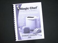 Magic Chef 200 or VBM200 Bread Maker Machine Instruction Manual & Recipes