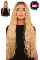 """LullaBellz Extra Long 26"""" Clip In Hair Extensions - 5 Piece Synthetic Wavy Style"""