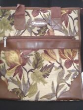 Premier Woven Fabric Autumnal Floral Zipped Carpet Shopper Bag Medium