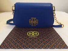 NWT $275 AUTHENTIC Tory Burch Britten Mini Bag Bondi Blue Crossbody Holiday