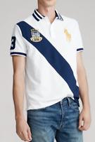 Polo Ralph Lauren Men's Big Pony Custom Slim Fit Polo Shirt In White/Navy