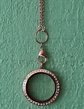 Large Round Floating Locket Rolo Chain with 2 Free Origami Owl Stone Charms