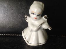 Antique Art Deco Germany Porcelain Christmas Tree Figure - girl Angel