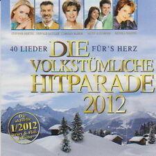 Doppel CD Album Die Volkstümliche Hitparade 40 Lieder für´s Herz 1/2012