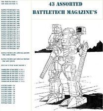 BattleTech Magazines Collection PDF'S BattleTechnology, Future Wars, , etc.