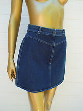 VINTAGE BLUE DENIM JEANS JEAN A LINE MINI SKIRT S M 8 10