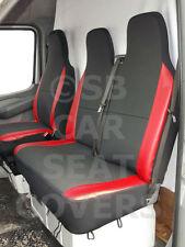 VW TRANSPORTER T5 VAN Housse de siège anthracite + simili-cuir rouge