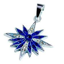 Pendant of blessed Silver 925 zircons, star of Bethlehem cross from Jerusalem