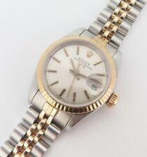 Vintage 1984 Rolex Oyster Date Ladies Steel & Gold Wrist 69173 Watch +Serviced