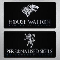 Game of Thrones personalised Wheelie Bin vinyl sticker pimp your wheelie bin