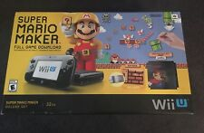 Super Mario Maker Nintendo Wii U 32GB Console Bundle w/ Amiibo Brand New