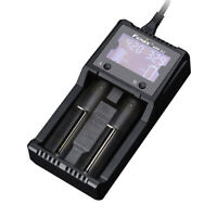 Fenix ARE-A2 2-Channel Battery Charger for Li-ion 16340, 18650 Batteries & More