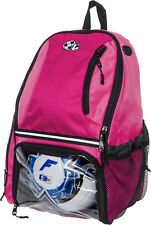 Lish Girl's Large School Sports Bag Soccer Backpack w/ Ball Compartments (Pink)