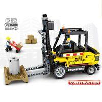 556Pcs Engineering Forklift Toys Bricks Building Blocks for Children Diy Gift