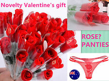 Women Sexy Valentine's Day Gift Novelty Rose RED G-string Pantie Thong Lingerie