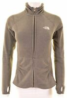 THE NORTH FACE Womens Fleece Hoodie Sweater Size 6 XS Grey Polyester  KK06