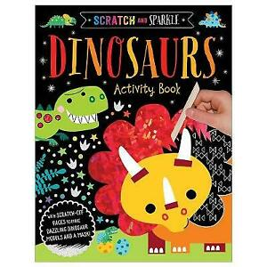 Scratch and Sparkle - Dinosaurs Activity Book | Paperback | Brand NEW