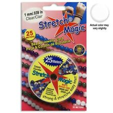 Stretch Magic Beading Cord - 1mm - Clear - 25m