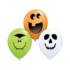 Party Supplies Happy Halloween Face Assortment 12 cm Latex Balloons pk 10