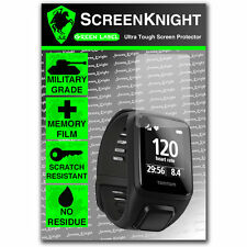 ScreenKnight TomTom Spark 3 / iii FRONT SCREEN PROTECTOR Military shield