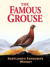The Famous Grouse, Retro Vintage signo de Aluminio de Metal/cueva de hombre/bar/pub