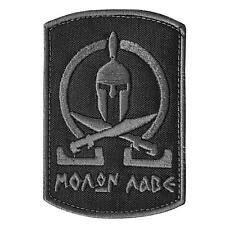 spartan molon labe ACU subdued tactical morale army milspec sew iron on patch