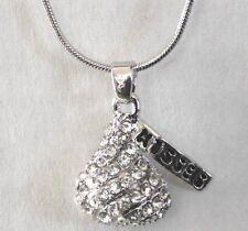 Hersheys crystal fashion necklaces pendants ebay chocolate hersheys kiss crystal pendant necklace mozeypictures Choice Image