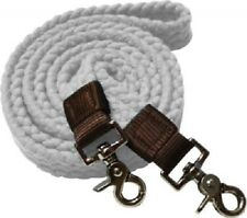 WESTERN HORSE WHITE COTTON POLY ROPING REINS FOR CONTEST OR RODEO, BARREL RACING