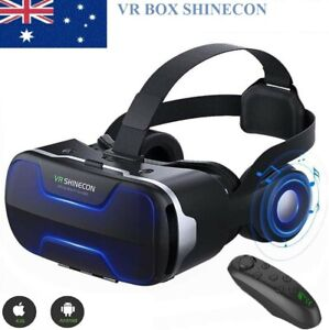 3D Shinecon VR 4.0 Virtual Reality Headset Box Glasses For Android Game Movie AU