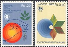 UN (G) 1982 Human Environment/Trees/Nature/Water/Conservation 2v set (n18057b)