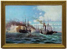 Kriegsmarine: Gefecht bei Helgoland 1864, edel gerahmt